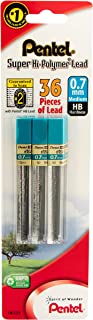 Pentel Super Hi-Polymer Lead Refill 0.7mm, HB, 36 Pieces of Lead (L50BP3HB-K6)
