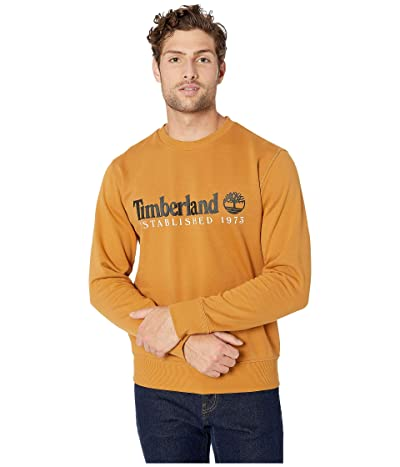 Timberland Essential Established 1973 Crew Sweater (Wheat Boot/Black) Men