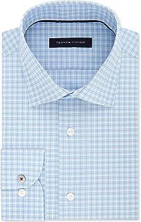 Mens Plaid Button Up Dress Shirt