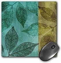 3dRose LLC 20.3x 20.3x 0.6cm لوحة ماوس ، والأخضر ولون ذهبي leaves- الخريف Liquitex Art (MP _ 99244_ 1)