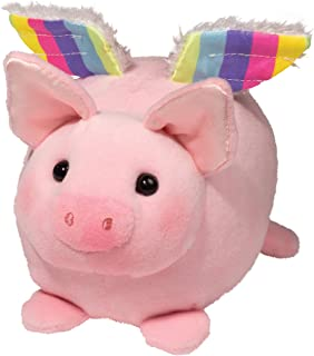 Douglas Flying Pig with Rainbow Wings Macaroon Plush Stuffed Animal