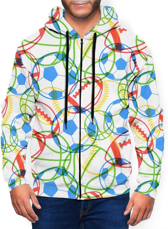 Realistic 3D Printed Stylish Mens Full Zip Up Hooded Jacket Lightweight Causal Hoodie Hooded Sweatshirt