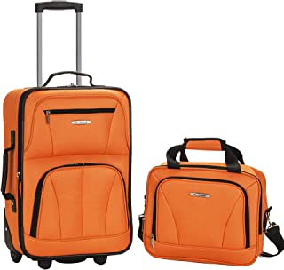 Rockland Fashion Softside Upright Luggage Set, Orange, 2-Piece (14/19)