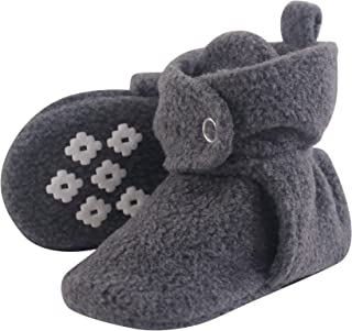 Little Treasure Baby Boys' Cozy Fleece Booties with Non Skid Bottom