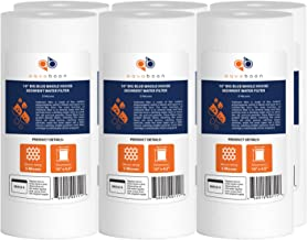 """Aquaboon 6-Pack of 5 Micron 10"""" Big Blue Sediment Water Filter Replacement Cartridge 