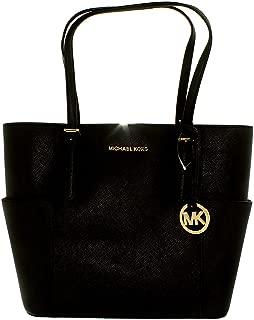 Michael Kors Womens Jet Set Leather Shopper Tote Handbag