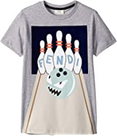 Fendi Kids - Short Sleeve Bowling Graphic T-Shirt (Big Kids)