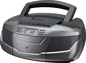 GPX, Inc. BCA206S Portable AM/FM Boombox with CD and Cassette Player