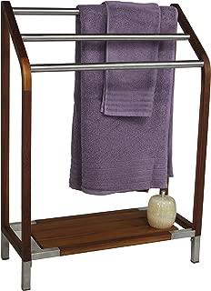 AquaTeak Sula Teak & Stainless Steel Towel Stand