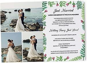 Just Married Wedding Reception Invitation Cards, Wedding Party Invitation Cards set of 20