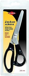 Kleiber - Tijera rematadora de Sastre, de Acero Inoxidable, 235 mm, Mango Color Negro