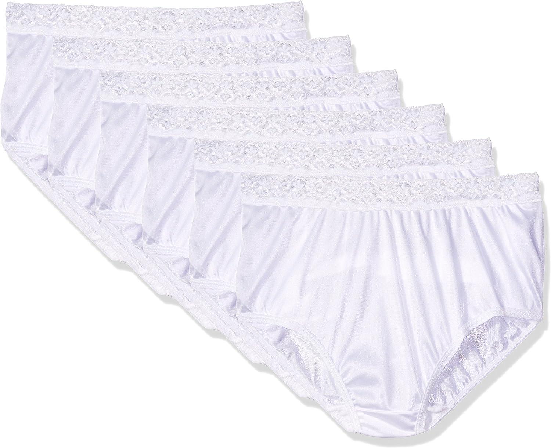 White Nylon And Lace Panties HD