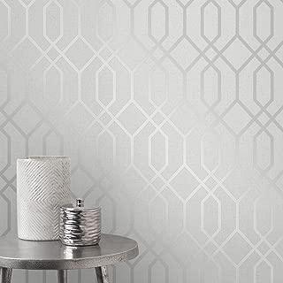 Best silver grey geometric wallpaper Reviews