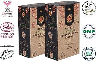 Herbal Me - Soft Black Henna Hair Color Combo Kit 7.05 Oz+7.05 Oz,CERTIFIED 100% Natural by Ecocert(France).VEGAN & HALAL approved, Zero chemicals(PACK OF 2)