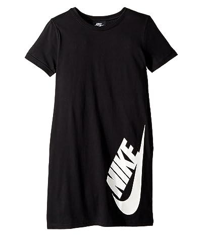 Nike Kids NSW T-Shirt Dress (Little Kids/Big Kids) (Black/White) Girl