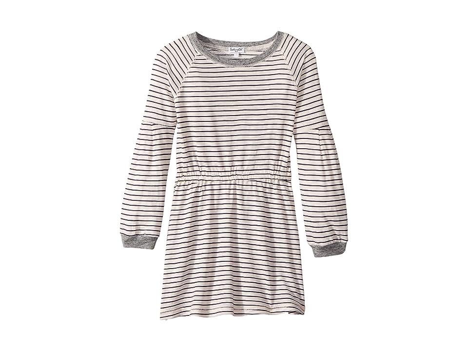 Splendid Littles Yarn-Dyed Long Sleeve Midi Dress (Little Kids) (Pink Stripe) Girl