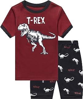 Shark Little Boys Shorts Set Pajamas 100% Cotton Clothes...