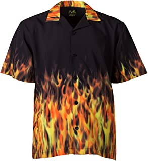 Red Flames Bowling Shirt