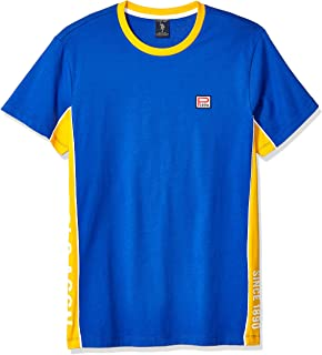 Men's Colorful Sporty Short Sleeve Crew Neck T-Shirt