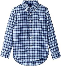 Plaid Performance Poplin Shirt (Toddler)