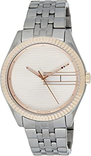 Tommy Hilfiger 1782084 Womens Quartz Watch, Analog Display and Stainless Steel Strap, Rose Gold
