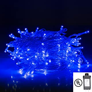 BIENNA String Lights, Plug in 200 LED 30M Multi Color Starry Fairy Lighting [8 Modes] [Waterproof] for Home Xmas Wedding Partyy-Blue