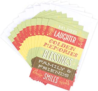 Hallmark Pack of Religious Thanksgiving Cards, Thankful (10 Cards with Envelopes)