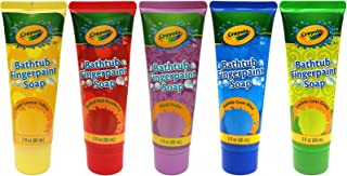 Crayola Crayon Kids Scented 3 oz Finger Paint Soap Vibrant Assorted Colors - 5 PACk