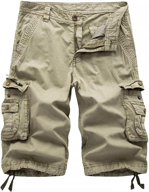 Winoto Mens Camo Cargo Shorts Multi Pockets Camouflage Twill Cargo Short