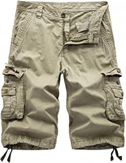 Winoto Mens Camo Cargo Shorts Multi Pockets Camouflage Cargo Short