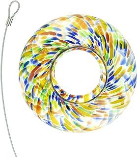 Clever Garden Glass Hanging Bird Feeder for Hummingbird, Wild Birds & More, Home & Garden Outdoor Birdfeeder Decoration, T...
