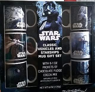 Star Wars Classic Vehicles & Starships 6 Mug Gift Set