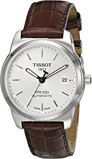 Tissot T Classic PR Men's Silver Dial Casual Watch Leather Strap - T049.407.16.031.00