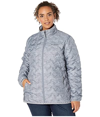 Columbia Plus Size Delta Ridgetm Down Jacket (Tradewinds Grey/Heather Print) Women