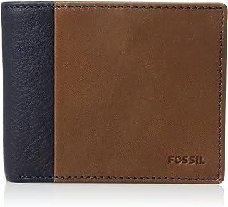 FOSSIL Men's Ward Wallet, Navy Blue, One Size