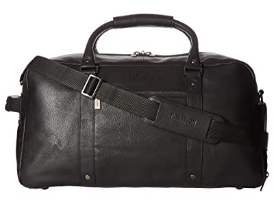 Kenneth Cole Reaction Leather Multi-Compartment RFID Duffel Bag (Black) Duffel Bags
