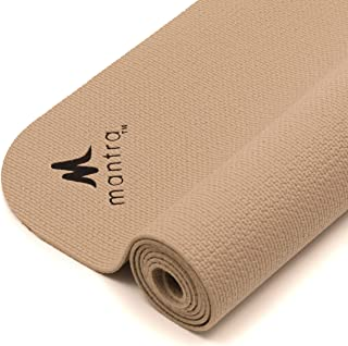 """Endurance Yoga Mat (28"""" x 76"""") 4.7mm thick, Wider, Longer Exercise Pad for Pilates, Stretching, Workouts, Fitness, Textured, Lightweight, Portable"""