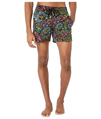 Vilebrequin Moorise Evening Birds Swim Trunks (Black) Men