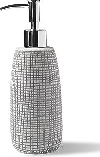Kassatex Raffia Lotion Dispenser, Porcelain
