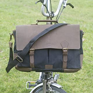 London Craftwork New Brompton Exclusive Handcrafted Messenger Bag in Black for S/M/H/P Handlebars Brompton Luggage