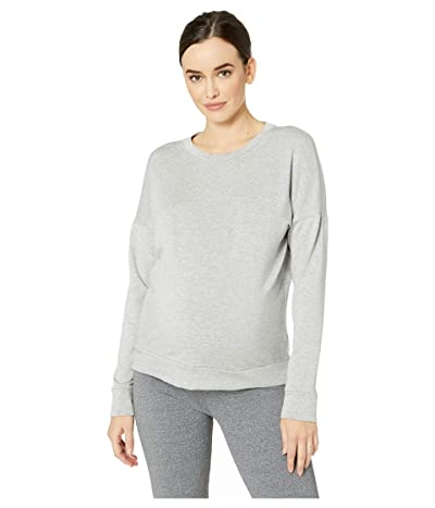 Beyond Yoga Maternity Anytime Anywhere Pullover (Light Heather Gray) Women