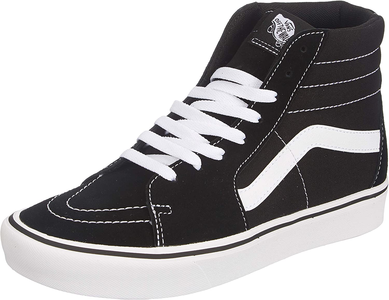Vans Comfycush Sk8-hi Trainers Men Black/White - 10 - High Top Trainers Shoes