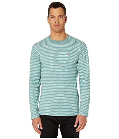 Vans Striped Long Sleeve T-Shirt (Oil Blue/White) Men