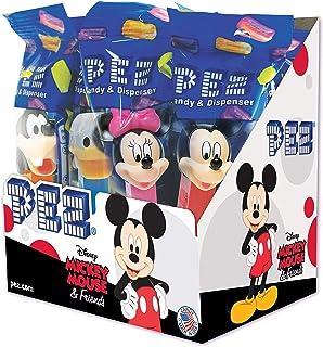 Mickey Mouse y sus Amigos Pez Dispenser con dos recambios (vendidos por separado, suministrado Un personaje al azar)