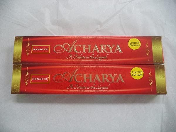 Nandita Acharya Natural Organic Incense Sticks 2 X 15 Gram Boxes