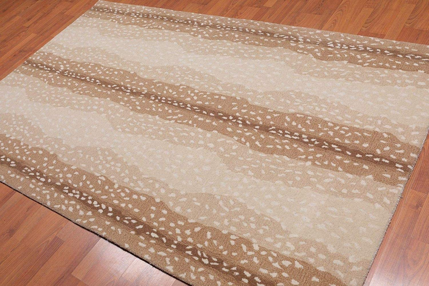 Old Hand Made Cheetah Challenge the lowest price of Japan ☆ Antelope Limited time sale Area Woolen Rugs Contemporary 8'