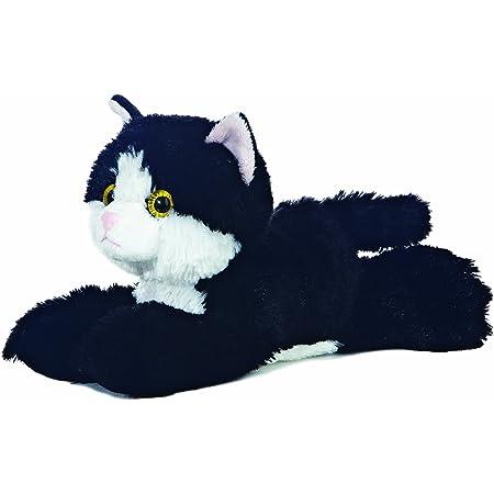 Furry Planet Toys SOFT TOY PLUSH ANIMAL KINGDOM 21CM CUTE CUDDLY ZOO JUNGLE WOODLAND FARM Black Cat