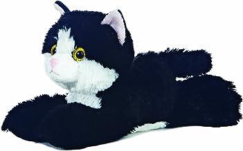Aurora Flopsie - Gato de Peluche (20,3 cm), Color Negro y Blanco