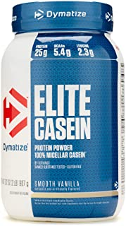Dymatize Nutrition Elite Casein, Smooth Vanilla, 2.12 Pound