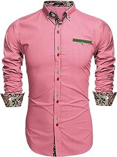 grande vente la meilleure attitude sur des coups de pieds de Amazon.fr : Chemise Italienne Homme - Rose